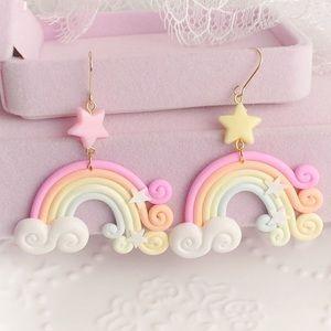 Handmade rainbow earrings